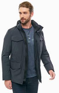 Демисезонная куртка черного цвета со скрытым капюшоном Napapijri