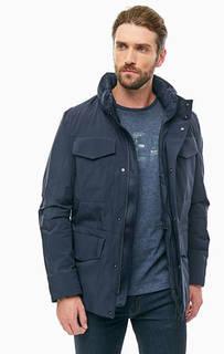 Демисезонная куртка синего цвета со скрытым капюшоном Napapijri