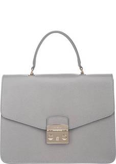 Кожаная сумка с откидным клапаном Metropolis Furla