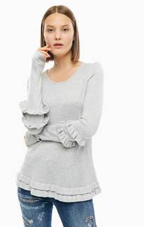 Джемпер серого цвета с длинными рукавами Silvian Heach