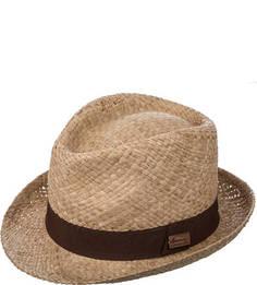 Соломенная шляпа с коричневой вставкой Herman