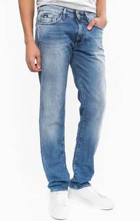 Синие зауженные джинсы с застежкой на молнию и болт Morris GAS