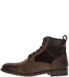 Зимние ботинки из нубука и замши Geox
