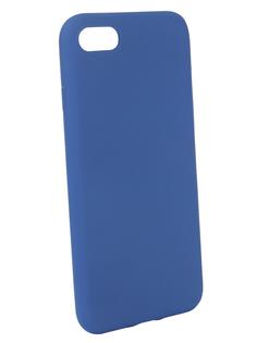 Аксессуар Чехол BROSCO для APPLE iPhone 8 Blue Matte IP8-COLOURFUL-BLUE