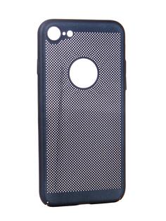 Аксессуар Чехол BROSCO Perforated для APPLE iPhone 8 Blue IP8-HOLE-BLUE