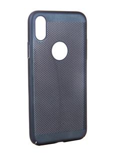 Аксессуар Чехол BROSCO Perforated для APPLE iPhone X Blue IPX-HOLE-BLUE