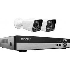Комплект видеонаблюдения ginzzu hk-425d, 4ch, 1080n, hdmi, 2 уличные камеры 1.0mp, ir20м, пластик 14233