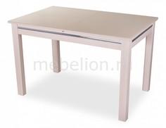 Стол обеденный Вальс со стеклом Домотека