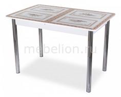 Стол обеденный Танго ПР со стеклом Домотека