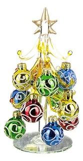 Ель новогодняя с елочными шарами (14.5 см) ART 594-036