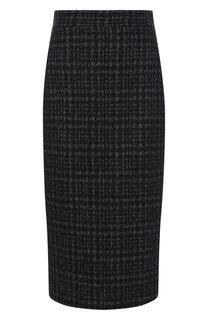 Вязаная юбка-карандаш с разрезом Kiton