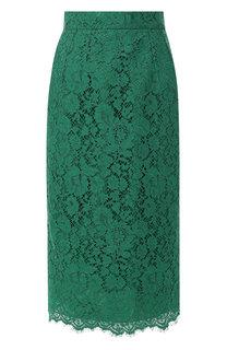 Кружевная юбка-карандаш с разрезом Dolce & Gabbana