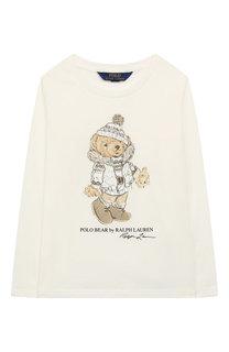 Хлопковый лонгслив с принтом Polo Ralph Lauren