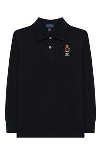 Хлопковое поло с длинными рукавами Polo Ralph Lauren