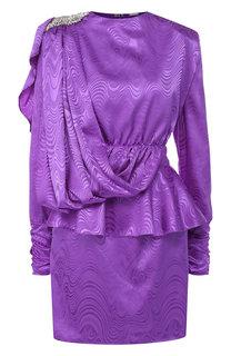 Приталенное мини-платье с оборкой Dodo Bar Or