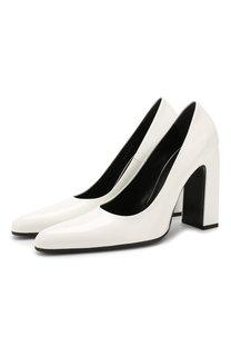 Кожаные туфли Round на устойчивом каблуке Balenciaga