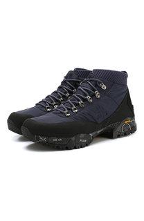 Комбинированные кроссовки Loutreck на шнуровке Premiata
