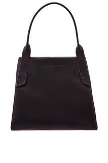 Черная кожаная сумка Adolfo Dominguez
