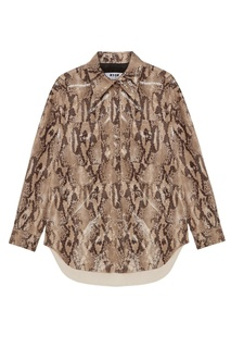Рубашка со змеиным принтом Msgm