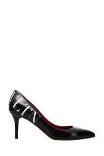 Черные туфли с логотипом Valentino Garavani