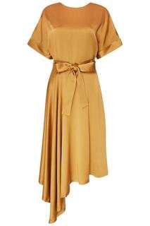 Золотистое шелковое платье Seamore