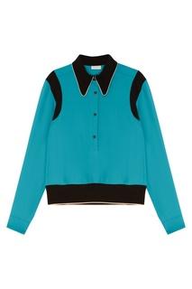 841aeab1b13d Бирюзовая блузка с отделкой Dries Van Noten