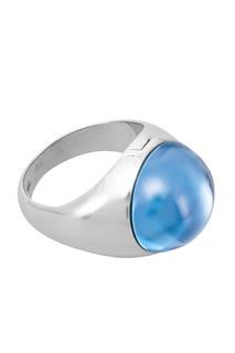 Кольцо-леденец L с голубым ситаллом Avgvst by Natalia Bryantseva