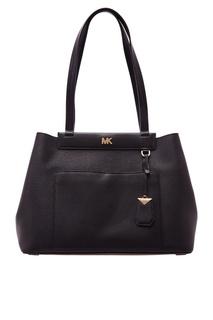 Черная сумка-хобо Meredith Michael Kors