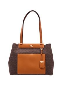 Текстильная сумка с монограммами Meredith Michael Kors