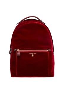 Бордовый кожаный рюкзак Nylon Kelsey Michael Kors