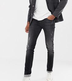 Черные рваные выбеленные джинсы слим Blend Tall - Черный