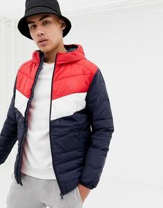 Дутая куртка с капюшоном Jack & Jones Originals - Темно-синий
