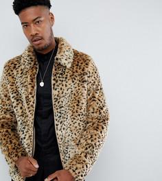 Куртка в стиле вестерн с леопардовым принтом ASOS DESIGN Tall - Рыжий