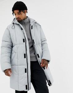 Серая куртка-пуховик в стиле oversize ASOS DESIGN - Серый