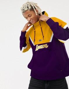 Анорак с короткой молнией фиолетового и желтого цвета Mitchell & Ness LA Lakers - Фиолетовый