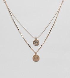Золотистое ярусное ожерелье с подвесками-монетами ALDO Adrendavia - Золотой