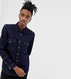 Джинсовая рубашка в стиле вестерн с длинными рукавами Heart & Dagger - Темно-синий