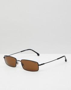 Черные узкие солнцезащитные очки Carrera - Черный