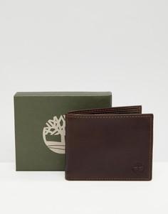 Темно-коричневый бумажник Timberland Grafton - Коричневый