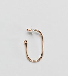 Золотистая серьга-кольцо DesignB эксклюзивно для ASOS - Золотой