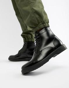 Черные ботинки на шнуровке Zign - Черный