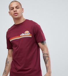 Бордовая футболка с круглым вырезом ellesse Rinaldo - Красный