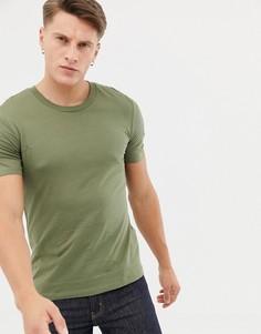 Классическая футболка Selected Homme - Зеленый