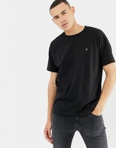 Черная oversize-футболка Farah Frankie - Черный