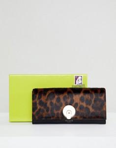 Складной кошелек с леопардовым принтом Ted Baker - Черный