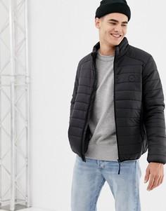 Легкая стеганая дутая куртка с воротником-трубой D-Struct - Черный