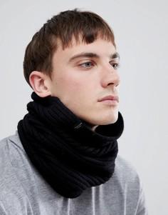 Шарф-снуд из 100% мериносовой шерсти Selected Homme - Черный