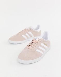 Розовые кроссовки adidas Originals Gazelle - Белый
