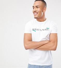 Рождественская футболка с принтом ASOS DESIGN Tall - Белый