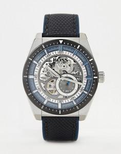Часы с кожаным ремешком BOSS 1513643 Signature - Черный